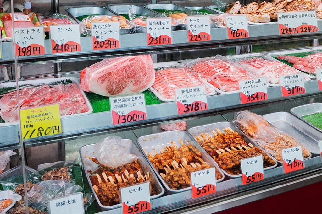 豊富な種類のお肉